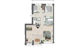 Utrecht Rijnvliet Appartementen plattegrond B
