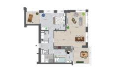 Utrecht Rijnvliet Appartementen plattegrond C