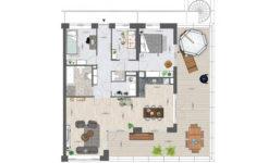 Utrecht Rijnvliet appartementen plattegrond D
